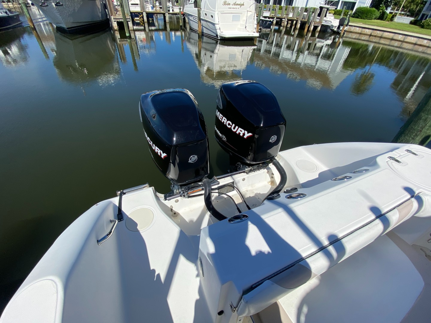 Boston Whaler 27 - Aft and Engine