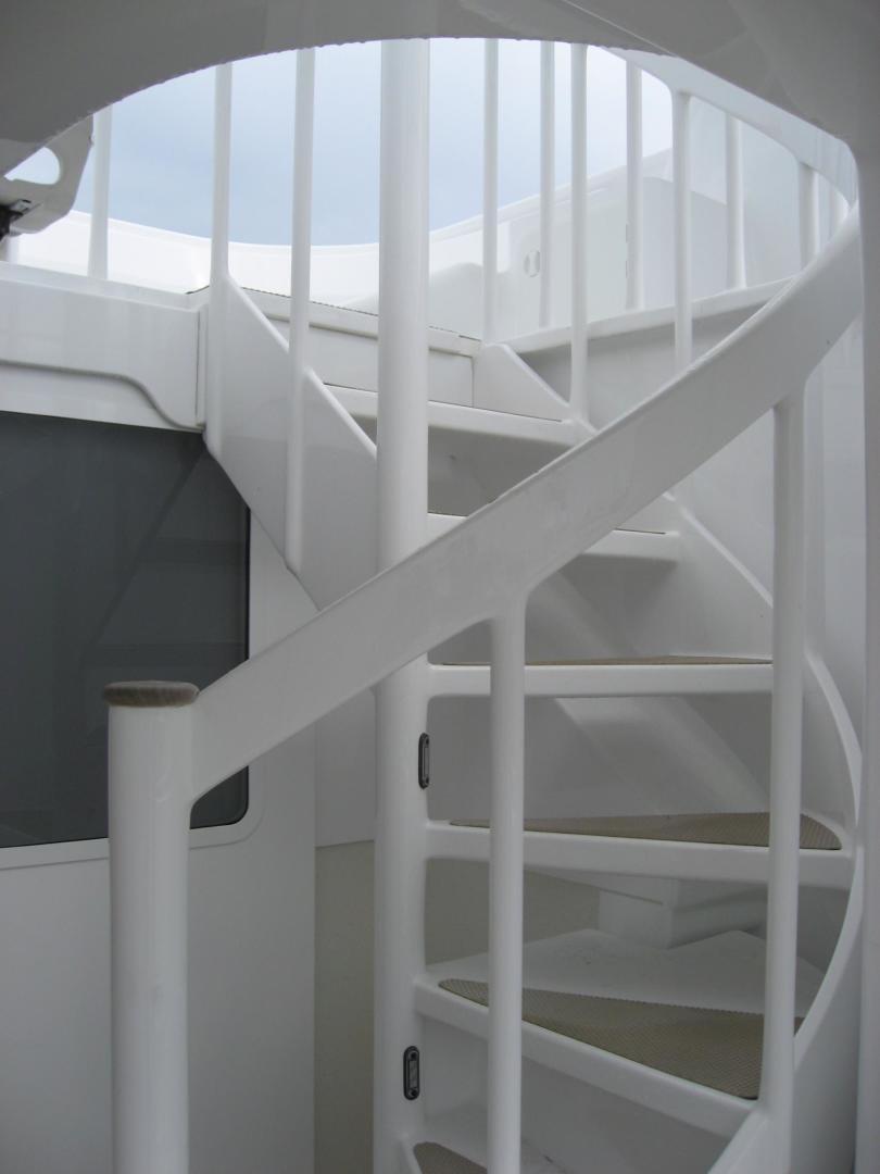 Custom-Catamaran 2009-Bonefish Brunswick-Georgia-United States-Flybridge Stairwell-610032 | Thumbnail
