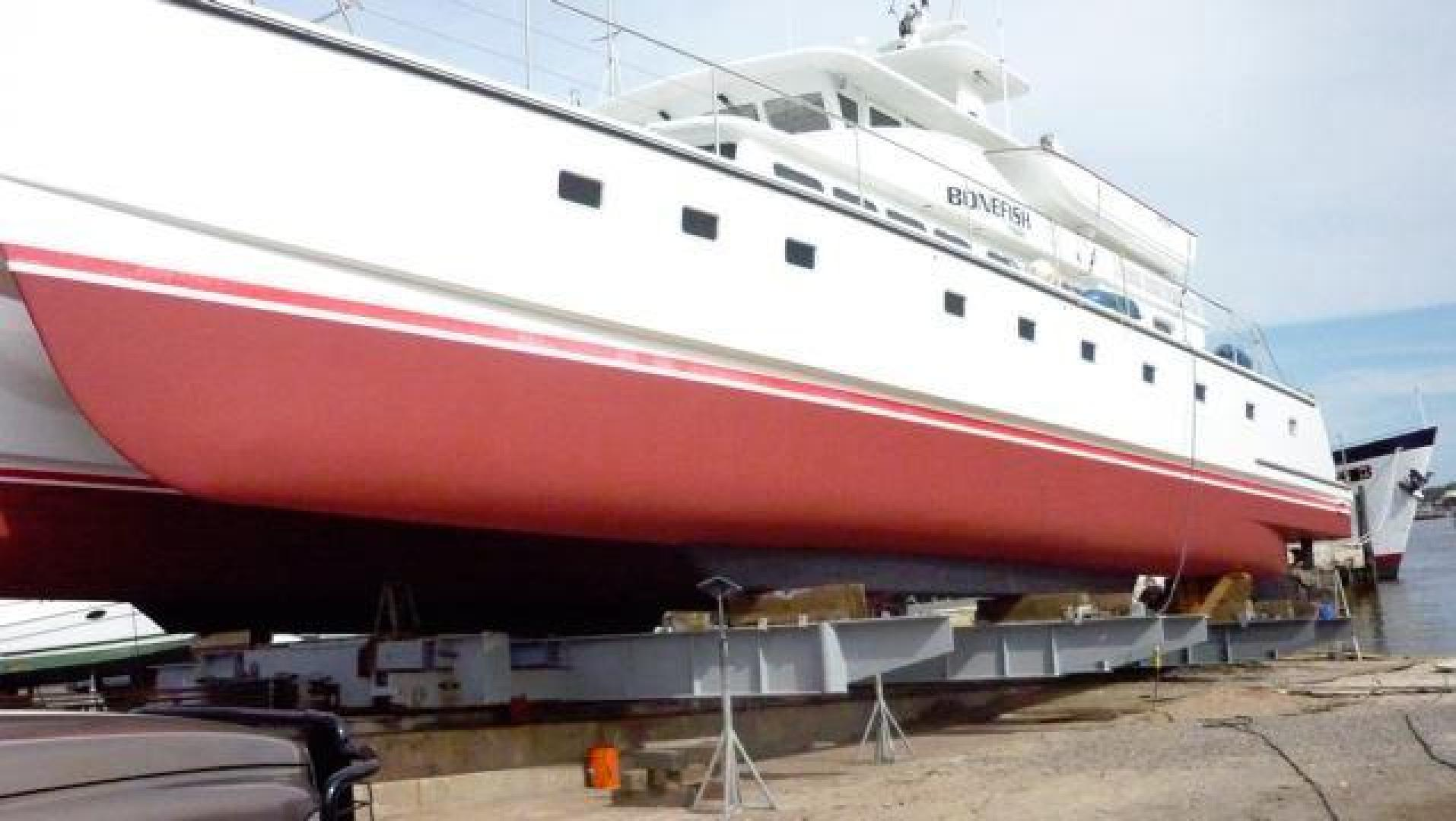 Custom-Catamaran 2009-Bonefish Brunswick-Georgia-United States-3/16/2015 New bottom paint on Bonefish completed 3/12-610052 | Thumbnail