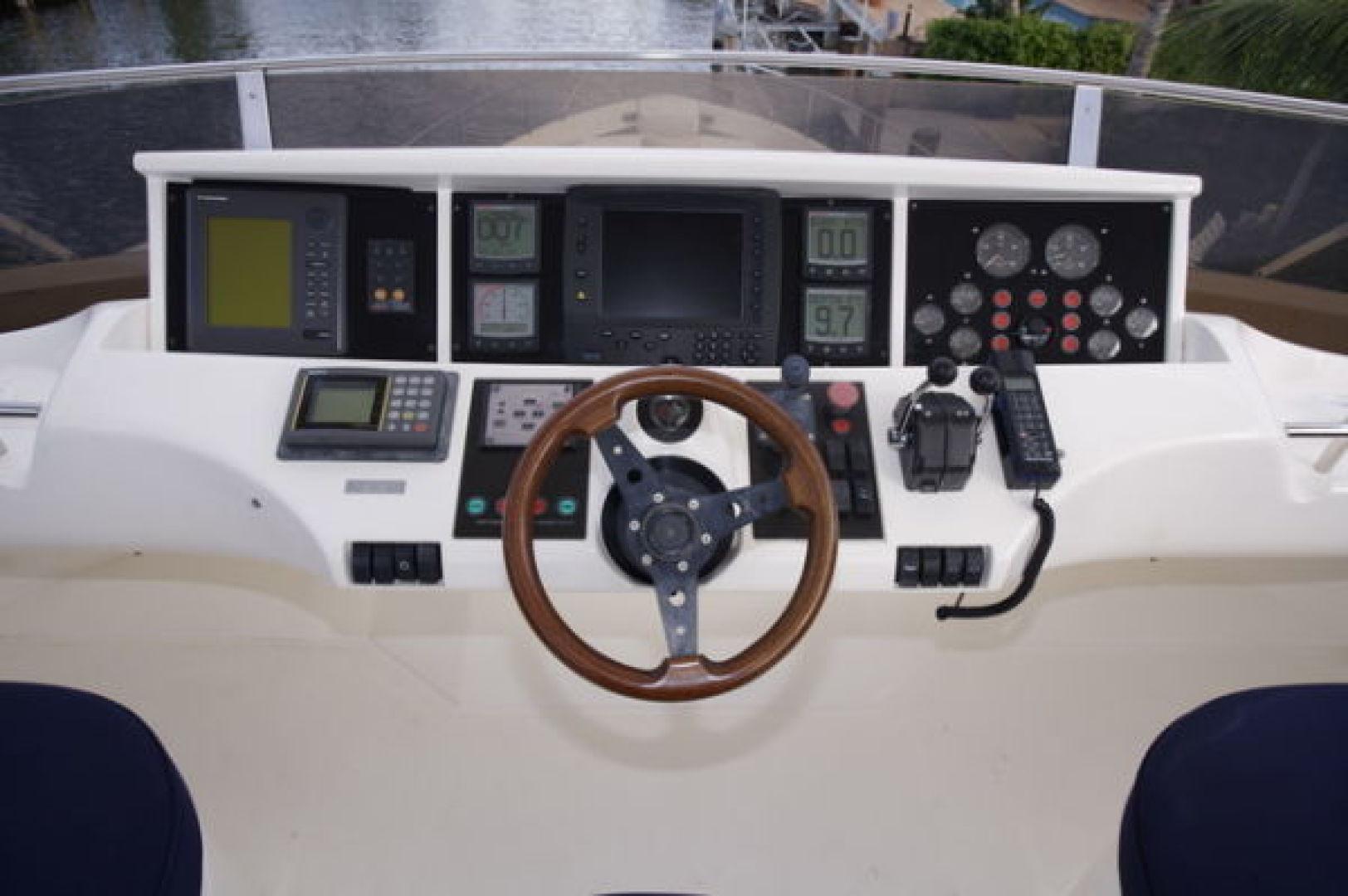 Viking-Sport Cruiser 1999-LADY KARIMAN Fort Lauderdale-Florida-United States-Flybridge Helm-617607 | Thumbnail