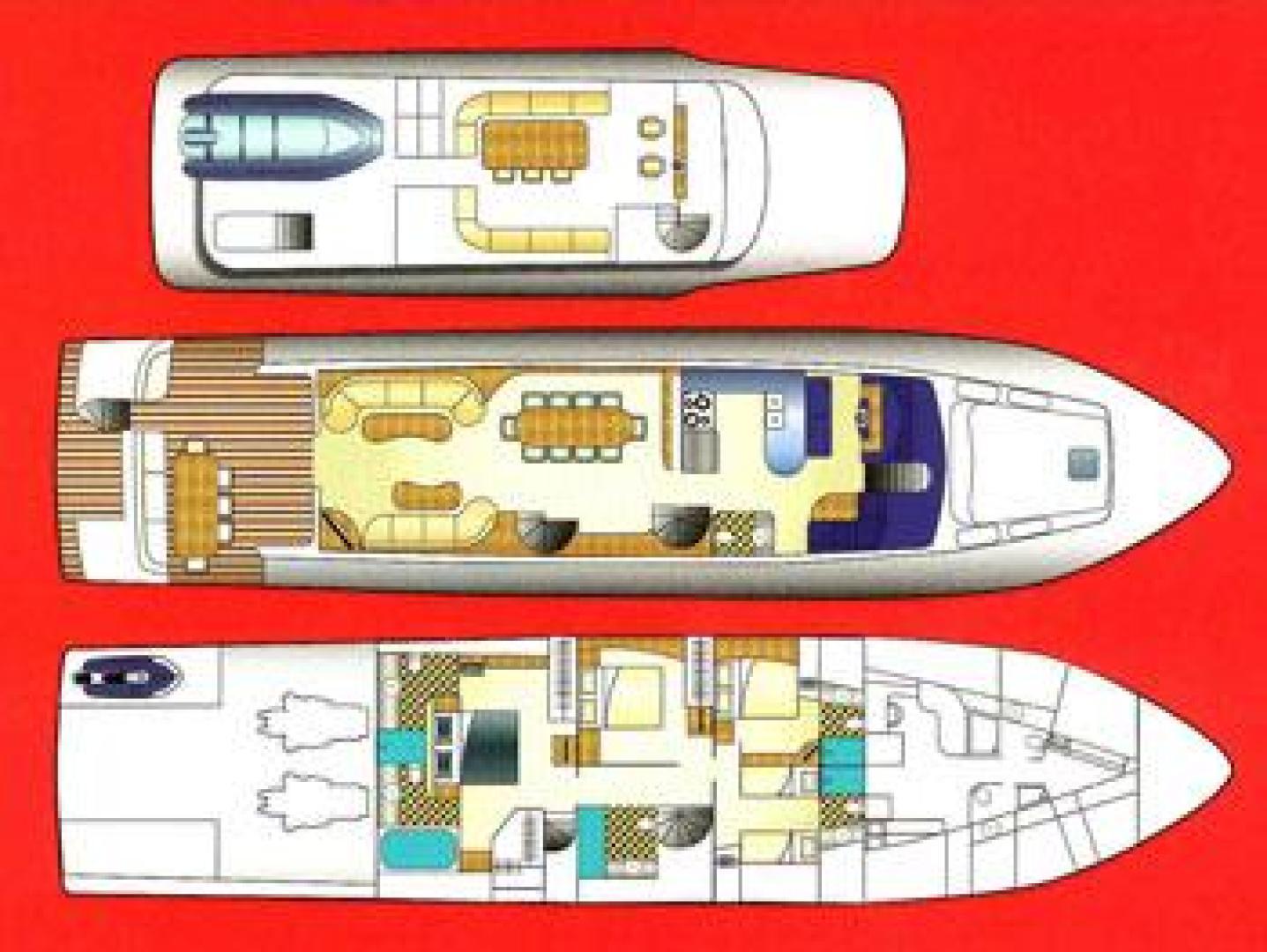 Cheoy Lee-Motor Yacht 1999-YOLY FORT LAUDERDALE-Florida-United States-Layout-610130 | Thumbnail