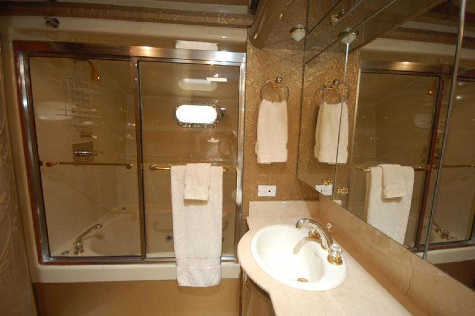 Cheoy Lee-Motor Yacht 1999-YOLY FORT LAUDERDALE-Florida-United States-Master Bathroom (His)-610126 | Thumbnail