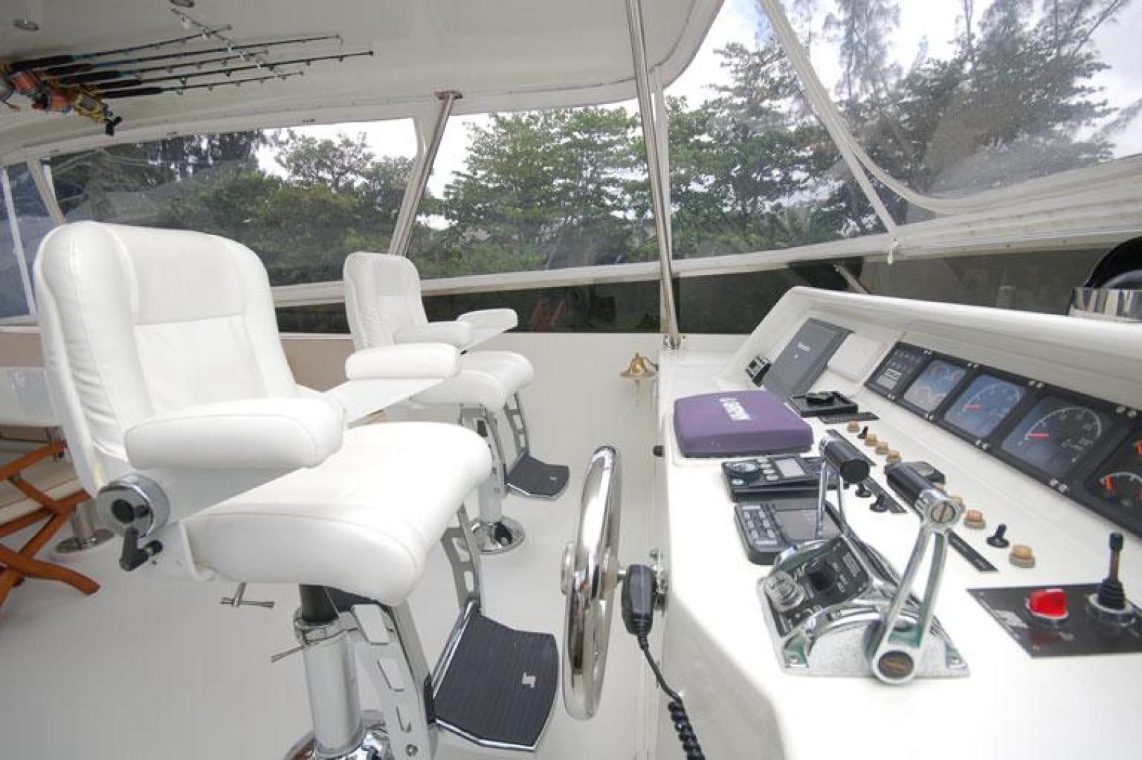 Cheoy Lee-Motor Yacht 1999-YOLY FORT LAUDERDALE-Florida-United States-Flybridge Helm-610116 | Thumbnail