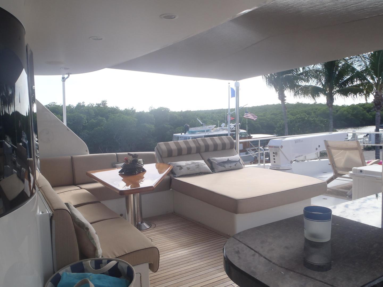 Ocean Alexander-Sky Lounge 2013-Risky Business Singer Island-Florida-United States-Aft Flybridge Deck-519036 | Thumbnail