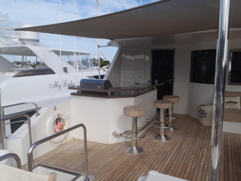 Ocean Alexander-Sky Lounge 2013-Risky Business Singer Island-Florida-United States-Aft Flybridge Deck-519039 | Thumbnail