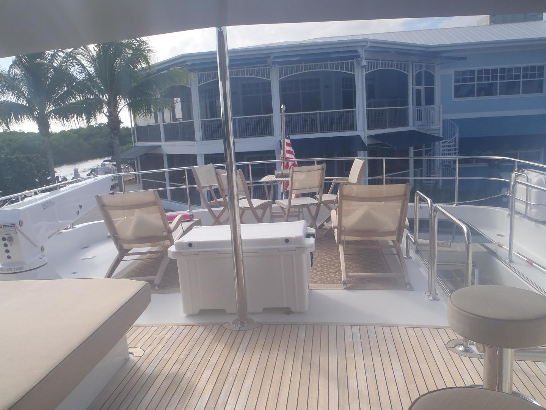 Ocean Alexander-Sky Lounge 2013-Risky Business Singer Island-Florida-United States-Aft Flybridge Deck-519038 | Thumbnail