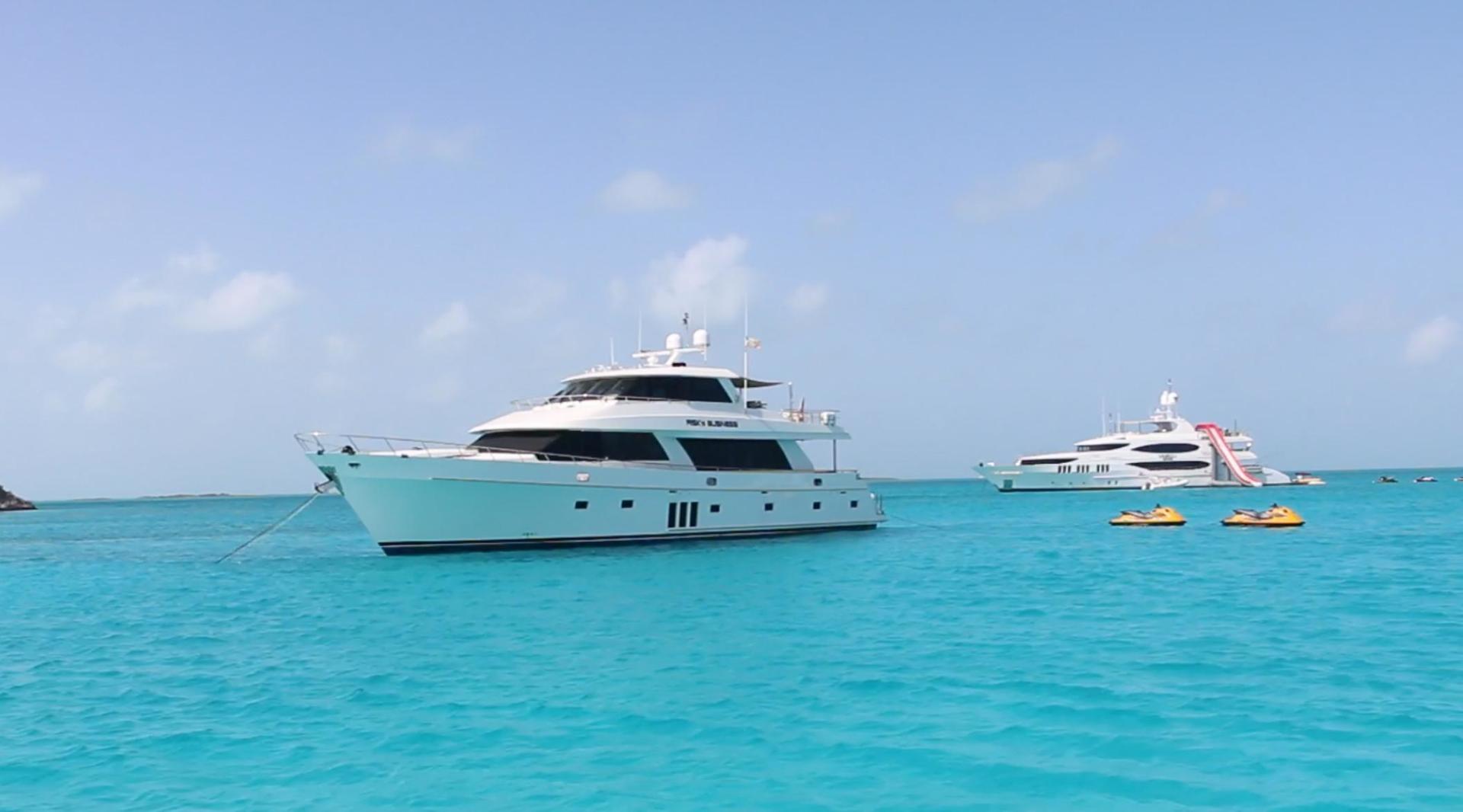Ocean Alexander-Sky Lounge 2013-Risky Business Singer Island-Florida-United States-Bahamas at Anchor-519034 | Thumbnail
