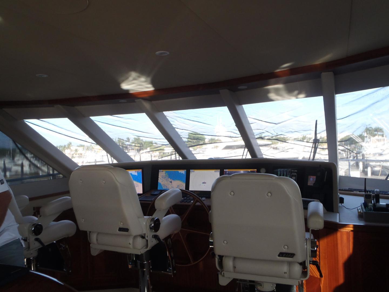 Ocean Alexander-Sky Lounge 2013-Risky Business Singer Island-Florida-United States-Skylounge Helm Station-519068 | Thumbnail