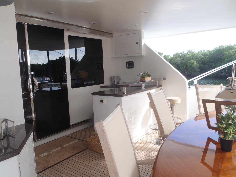 Ocean Alexander-Sky Lounge 2013-Risky Business Singer Island-Florida-United States-Aft Main Deck-519042 | Thumbnail