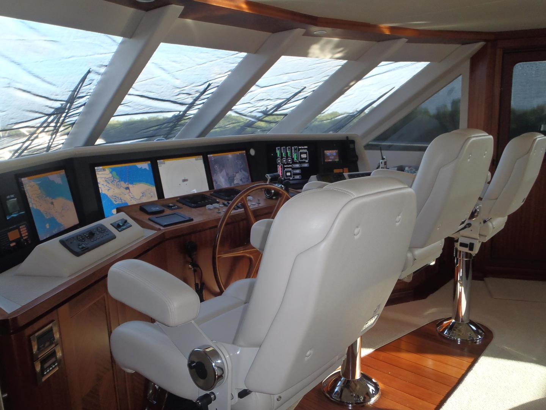Ocean Alexander-Sky Lounge 2013-Risky Business Singer Island-Florida-United States-Skylounge Helm Station-519065 | Thumbnail