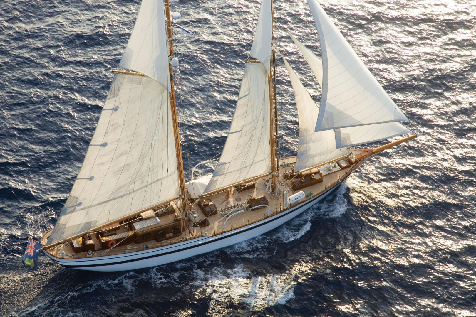 1982 Lubbe Voss 101ft Schooner Yacht Lady Thuraya For Sale Tall Ship Rig Types Plate 4 101