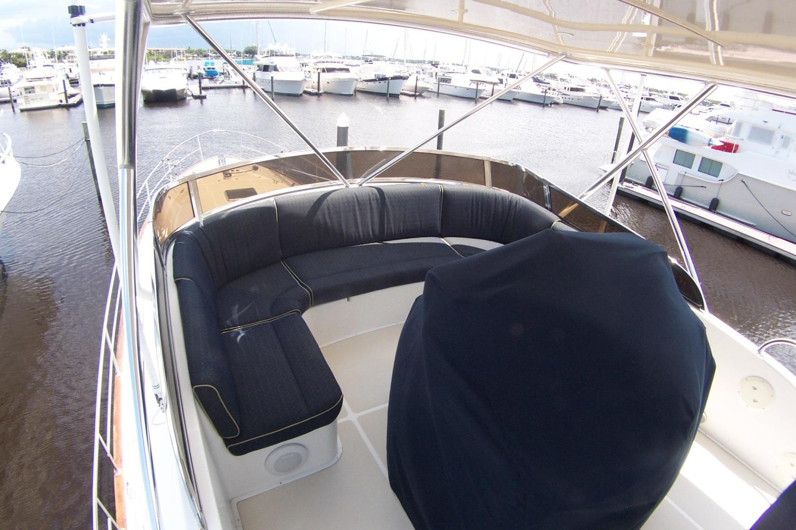 Legacy Yachts-Flybridge Sedan 2004-ARABELLA Stuart-Florida-United States-Flybridge Seating for 8 forward of Covered Helm Console-453056 | Thumbnail