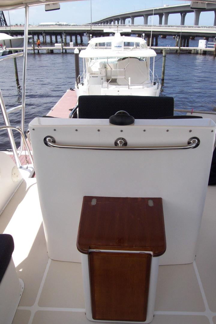 Legacy Yachts-Flybridge Sedan 2004-ARABELLA Stuart-Florida-United States-Folding Table  front of Helm Console-453063 | Thumbnail