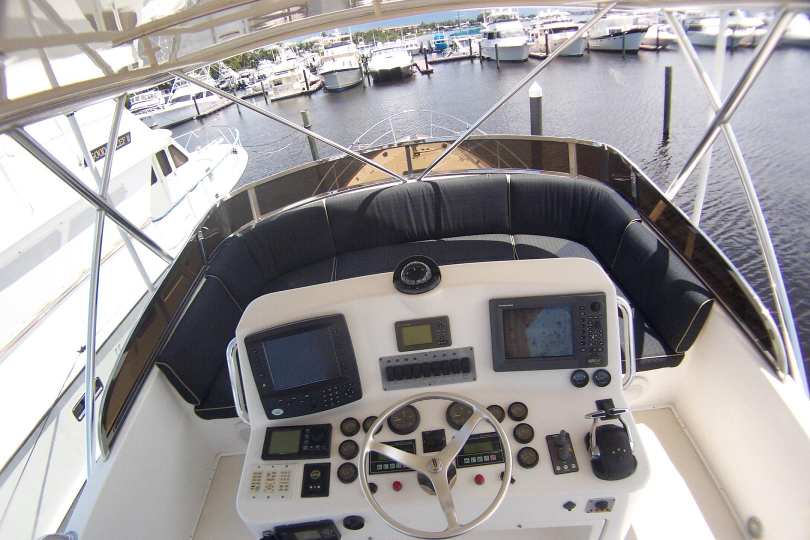 Legacy Yachts-Flybridge Sedan 2004-ARABELLA Stuart-Florida-United States-Flybridge Helm Console-453057 | Thumbnail