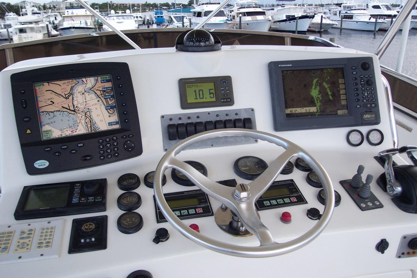 Legacy Yachts-Flybridge Sedan 2004-ARABELLA Stuart-Florida-United States-FB Helm Instrumentation & Gauges-453061 | Thumbnail