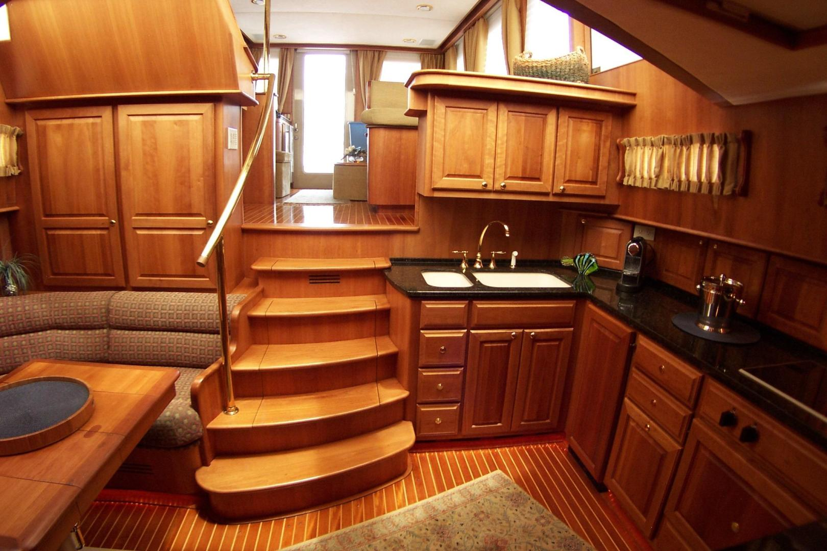 Legacy Yachts-Flybridge Sedan 2004-ARABELLA Stuart-Florida-United States-5 centerline steps from Salon to Galley-453040 | Thumbnail