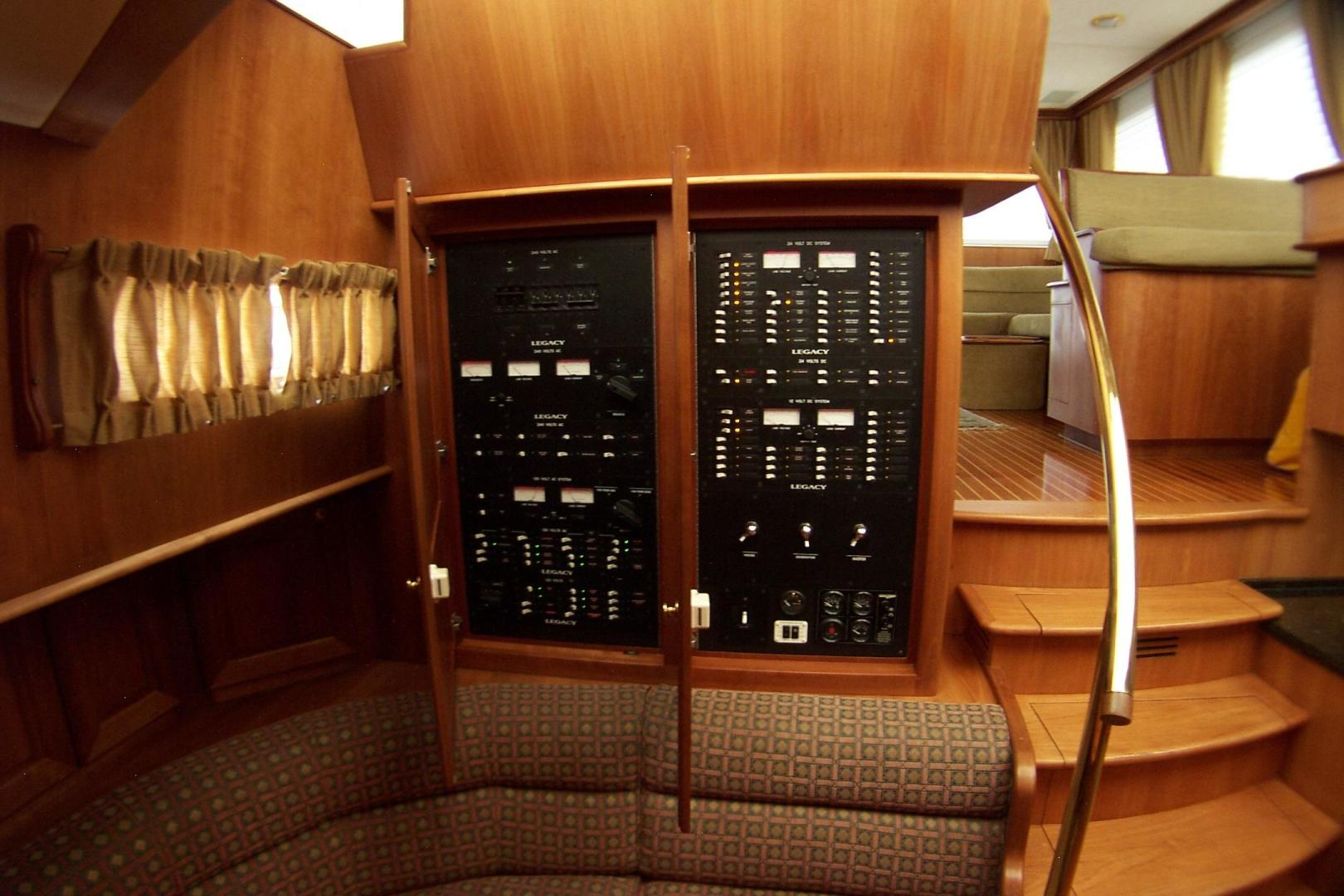 Legacy Yachts-Flybridge Sedan 2004-ARABELLA Stuart-Florida-United States-Concealed Electrical Panels located in Dinette-453073 | Thumbnail