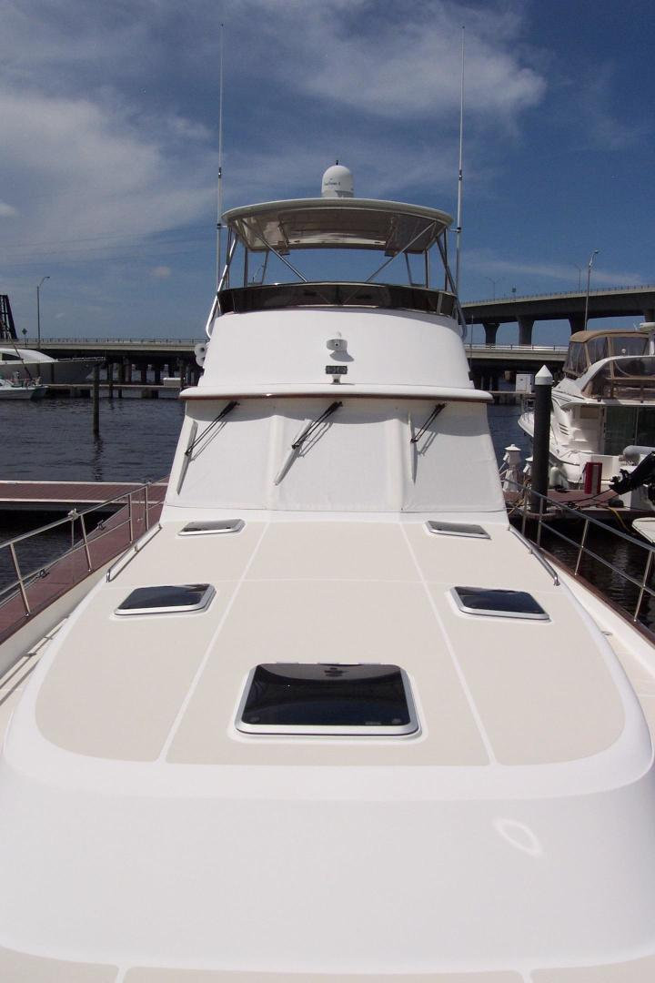 Legacy Yachts-Flybridge Sedan 2004-ARABELLA Stuart-Florida-United States-Flybridge & Cabin Profile from Foredeck-453069 | Thumbnail