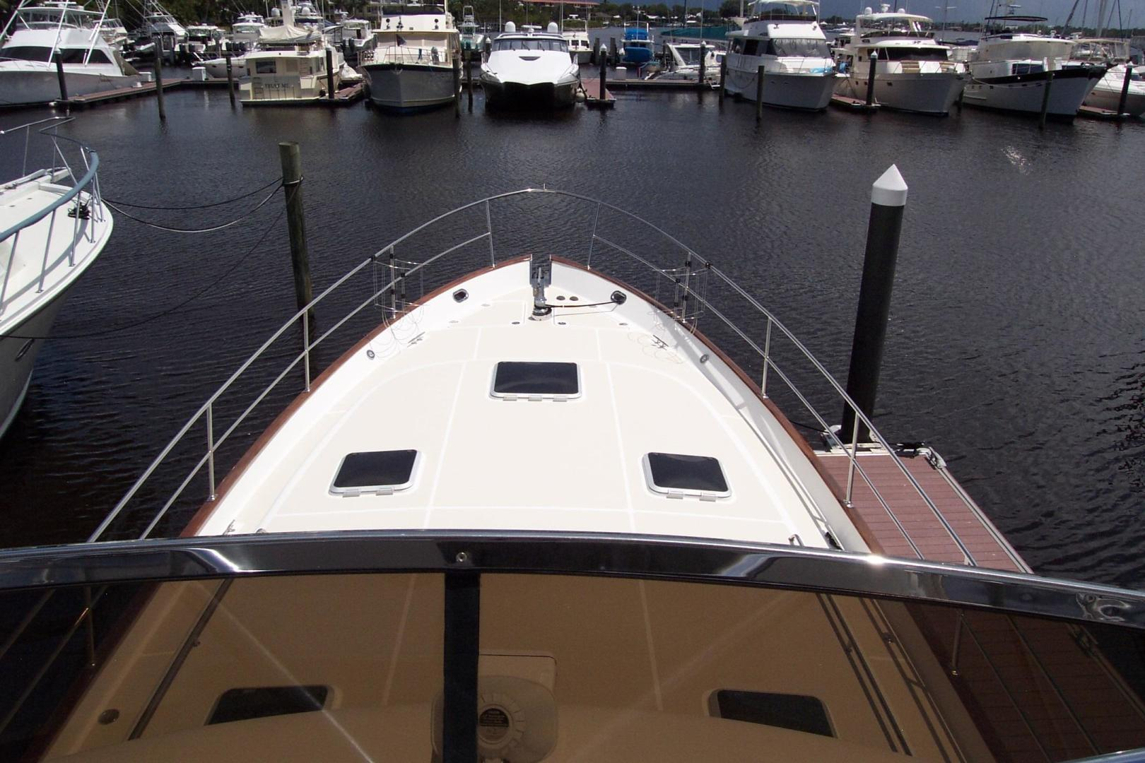 Legacy Yachts-Flybridge Sedan 2004-ARABELLA Stuart-Florida-United States-Bow from Flybridge-453058 | Thumbnail