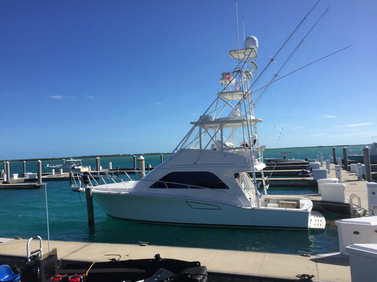 Isla Verde is a Cabo Flybridge Yacht For Sale in Stuart -At Home On The Water-0