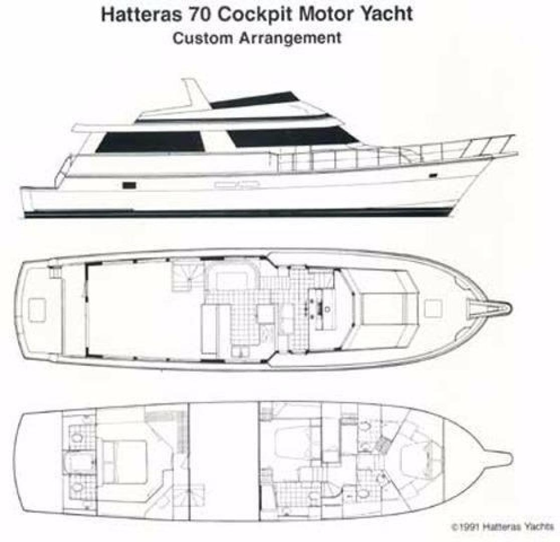 Picture Of: 70' Hatteras Cockpit Motor Yacht 1991 Yacht For Sale | 2 of 17