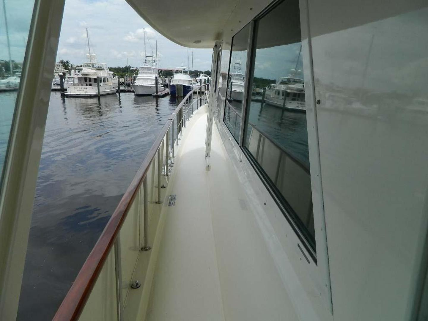 Hatteras-Motor Yacht 1989-Windfall Stuart-Florida-United States-Port Side Deck Fwd-910370 | Thumbnail