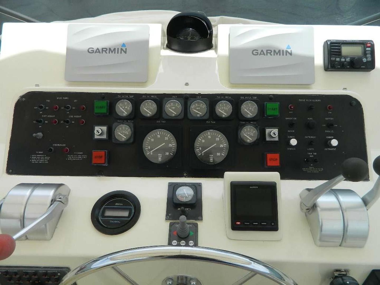 Hatteras-Motor Yacht 1989-Windfall Stuart-Florida-United States-Upper Helm Gauges-910387 | Thumbnail