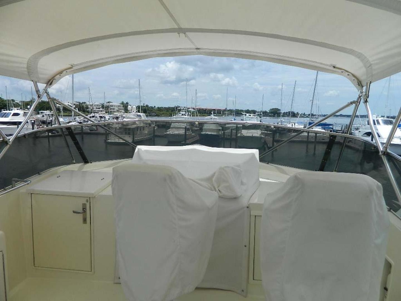 Hatteras-Motor Yacht 1989-Windfall Stuart-Florida-United States-Flybridge Helmseat Covers-910383 | Thumbnail