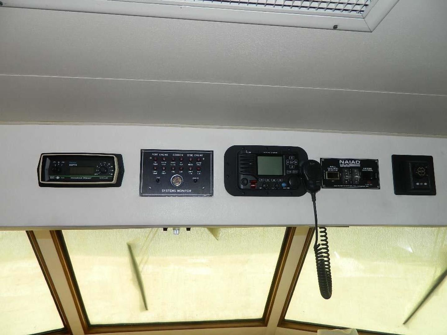 Hatteras-Motor Yacht 1989-Windfall Stuart-Florida-United States-Lower Helm Overhead Electronics-910416 | Thumbnail