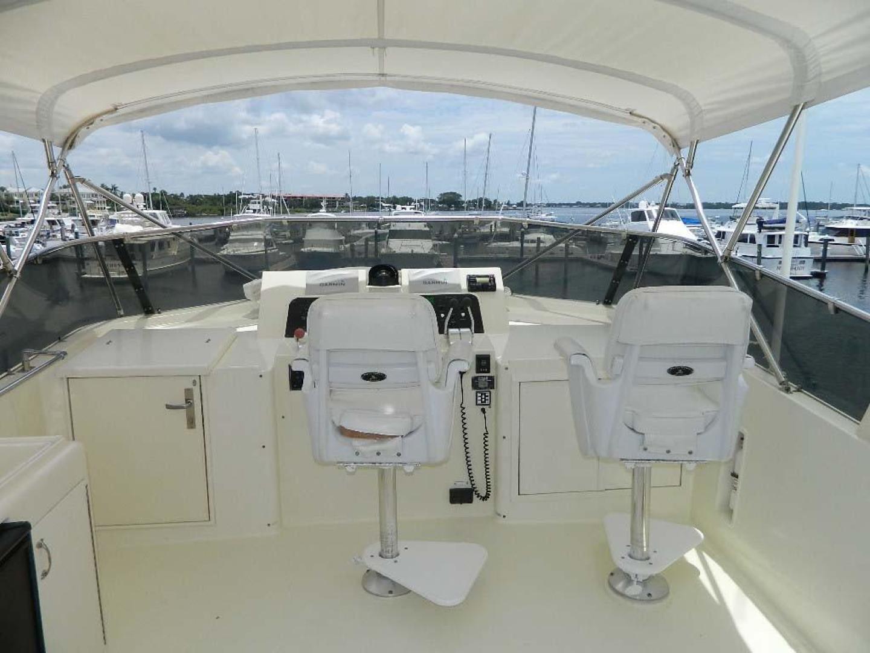 Hatteras-Motor Yacht 1989-Windfall Stuart-Florida-United States-Flybridge Helm Seats-910382 | Thumbnail