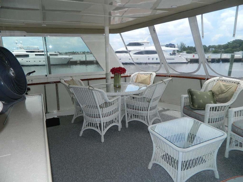 Hatteras-Motor Yacht 1989-Windfall Stuart-Florida-United States-Aft Deck-910377 | Thumbnail