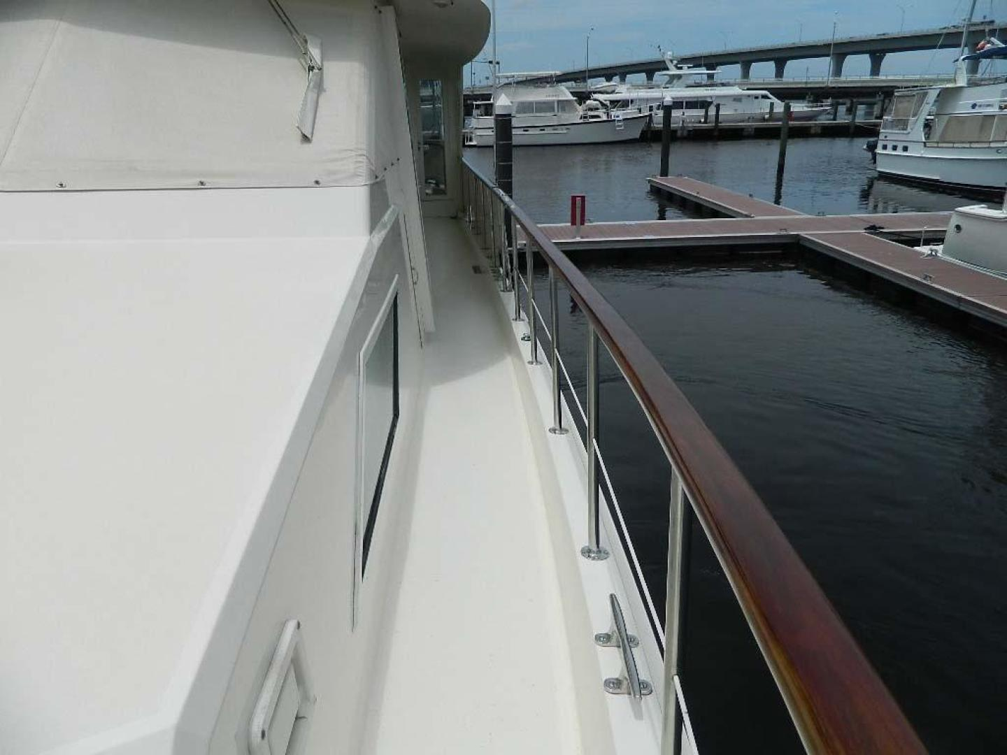 Hatteras-Motor Yacht 1989-Windfall Stuart-Florida-United States-Port Side Deck Aft-910371 | Thumbnail