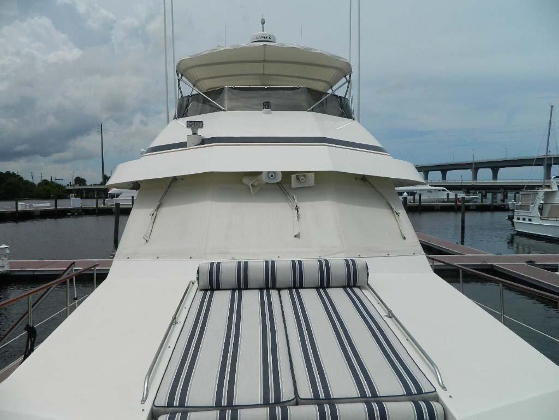 Hatteras-Motor Yacht 1989-Windfall Stuart-Florida-United States-Looking Aft-910361 | Thumbnail