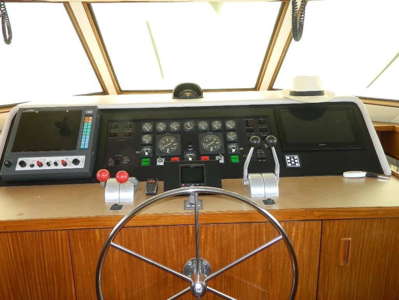 Hatteras-Motor Yacht 1989-Windfall Stuart-Florida-United States-Lower Helm-910414 | Thumbnail