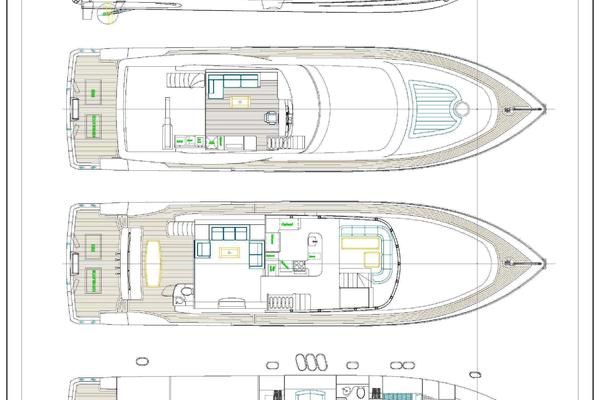2019Johnson 80 ft 80  Skylounge w Fishing Cockpit   Johnson 80  Skylounge M Y