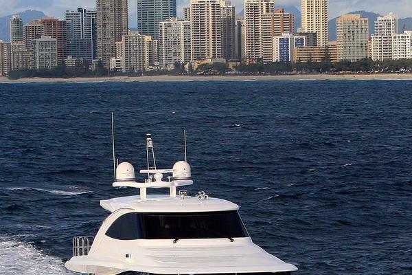 2019Johnson 83 ft 83  Skylounge w Fishing Cockpit   Johnson 83  Skylounge M Y