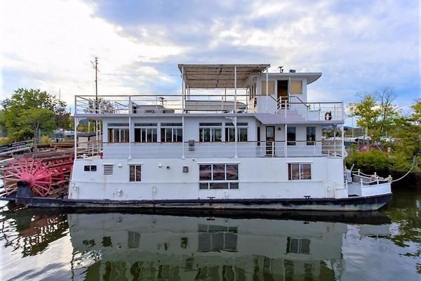 79' Ac Mcleod Custom Sternwheeler House Barge 1982 | Elena Queen Of Arts