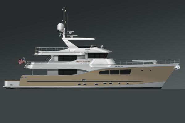 100' Custom Tri-Deck Explorer Yacht 2021 | All Ocean Yachts 100' Steel or Fiberglass