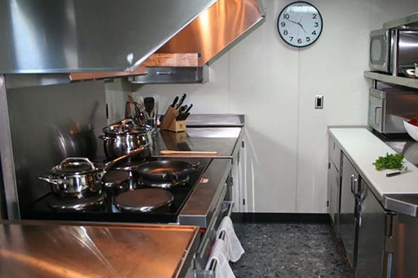 Stainless Steel Commercial Galley Cooking Area