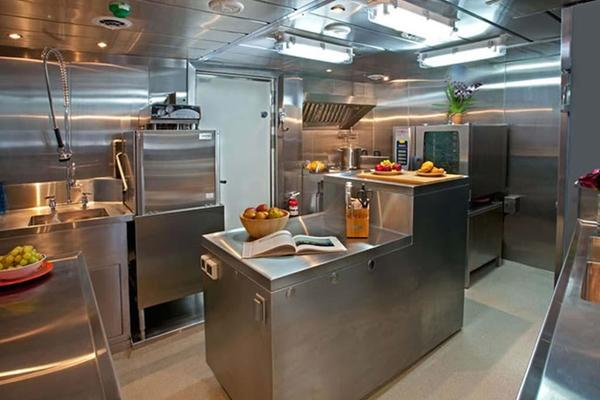 Stainless Steel Commercial Galley