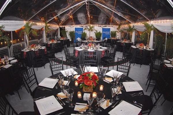 Helipad Deck Converted with Tent for Party