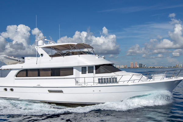 Picture Of: 75' Hatteras Cockpit Motor Yacht 2000 Yacht For Sale | 1 of 59