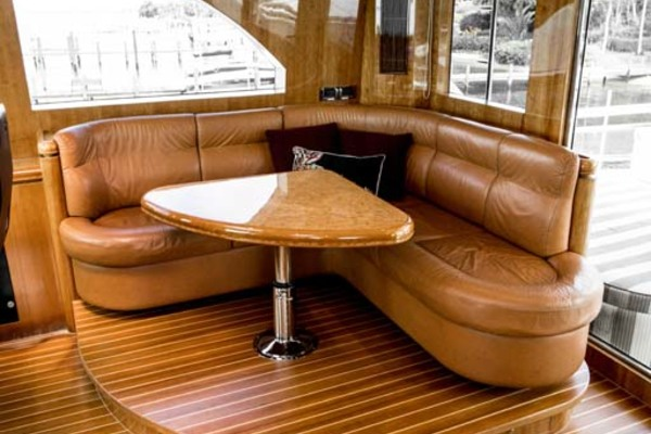 Settee in Pilothouse