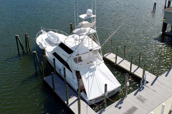 2001Viking 65 ft 65 Enclosed Bridge Convertible   Talk N Trash