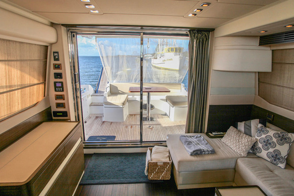 Salon to Aft Deck View