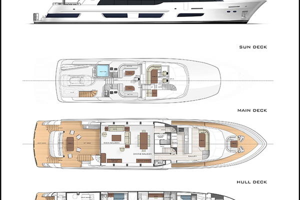 2020 Crescent 110' 110 Fast Pilothouse Yacht CRESCENT 110 | Picture 5 of 13