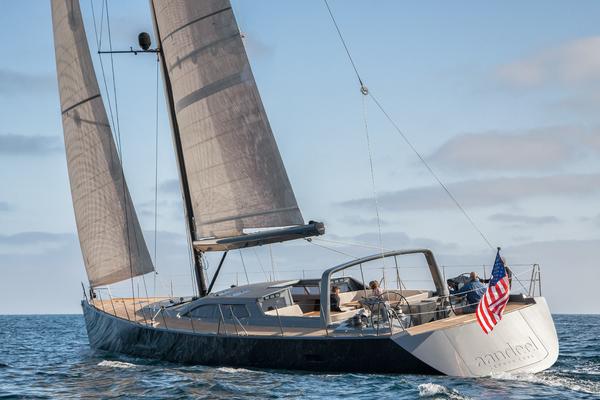 1996 Goetz / Derecktor 77' Custom Sparkman & Stephens Designed Performance Sailing Yacht AANDEEL   Picture 4 of 24