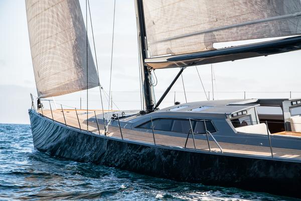 1996 Goetz / Derecktor 77' Custom Sparkman & Stephens Designed Performance Sailing Yacht AANDEEL   Picture 6 of 24
