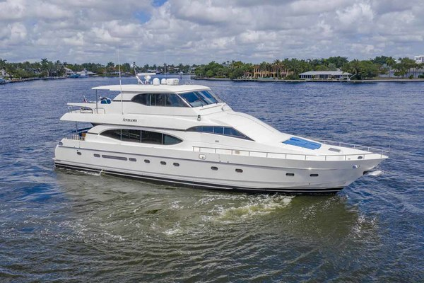 Picture Of: 82' Monte Fino Widebody Skylounge 2001 Yacht For Sale | 1 of 87