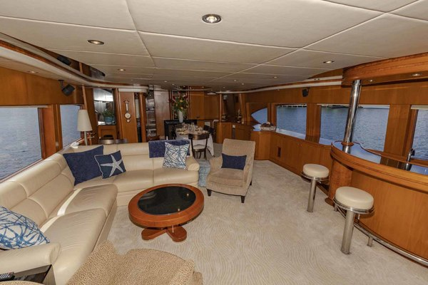 Picture Of: 82' Monte Fino Widebody Skylounge 2001 Yacht For Sale | 2 of 87